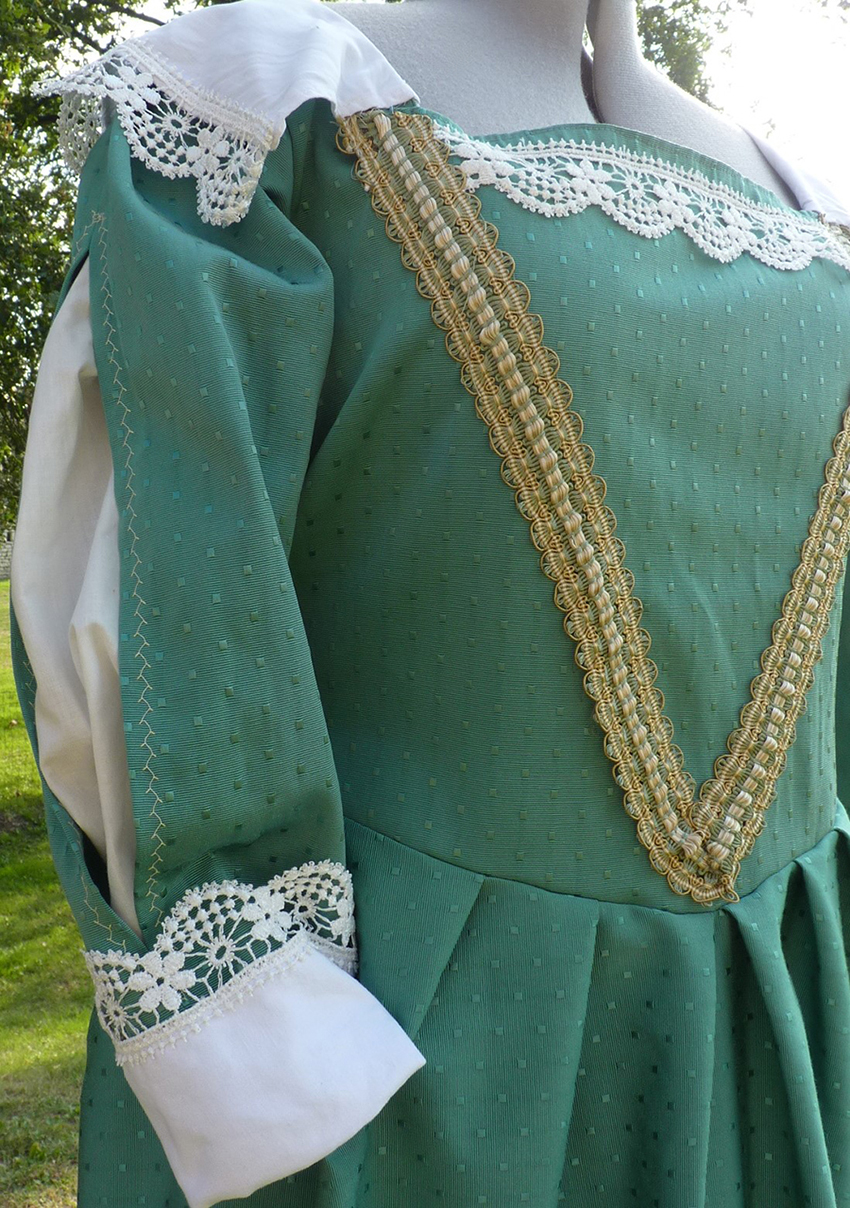 Detail of the Lady of Milly's costume