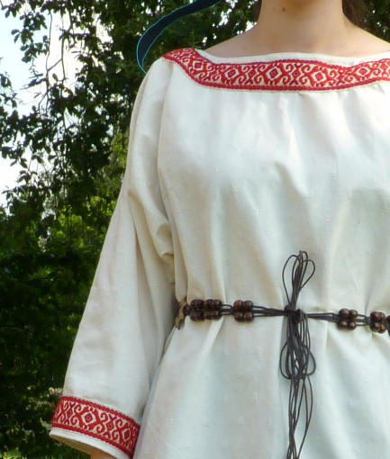 Detail of the Alpaïde of Avroy's costume