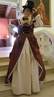 Thumbnail of the steampunk lady's costume