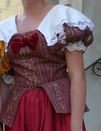 Detail of the Baroness of Pouzauges' costume