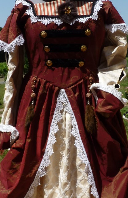 Detail of the steampunk lady's costume