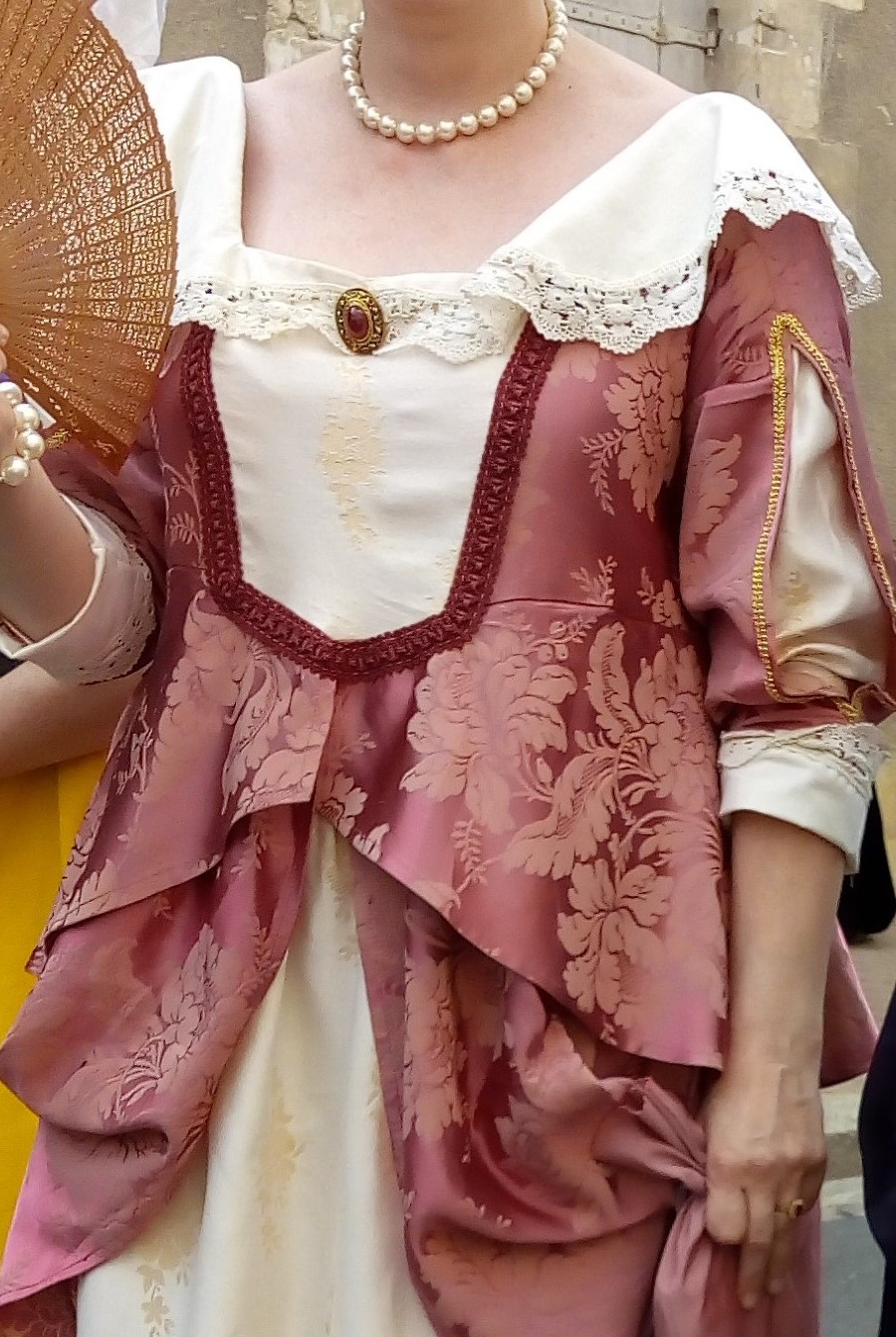Detail of the Louise Marguerite of Lorraine's costume