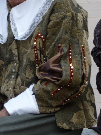Detail of the Lord of Bouchard's costume