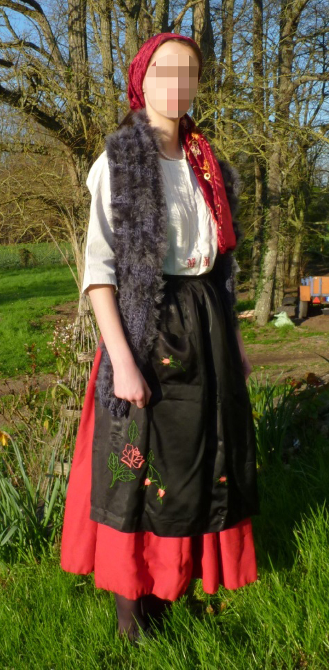 Eastern Europe countrywoman's costume