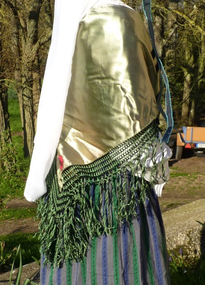 Detail of the Eastern Europe bride's costume