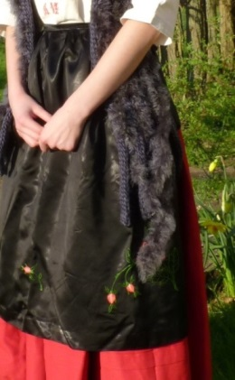 Detail of the Eastern Europe countrywoman's costume