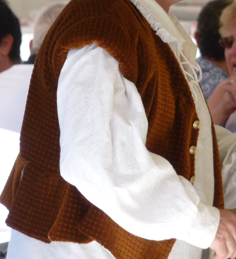 Detail of the Sirs of Bois Doré's costumes