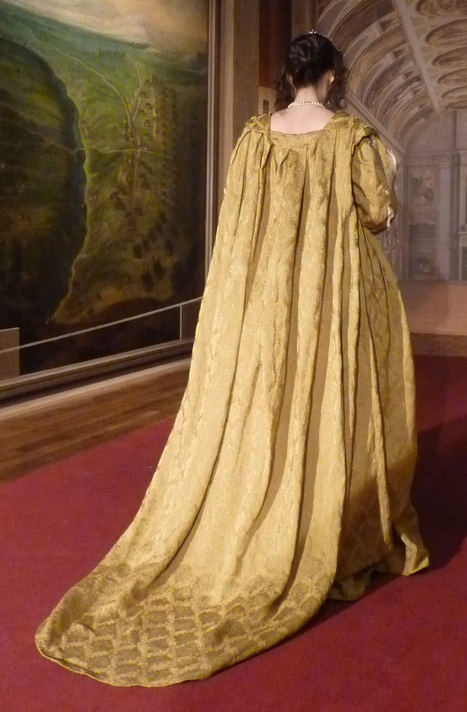 Detail of the Anne of Austria's costume