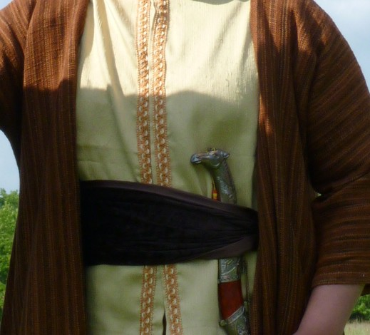 Detail of the Ouari the Bold's costume
