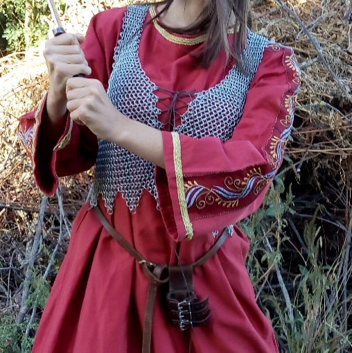 Detail of the Astrid the shieldmaiden's costume