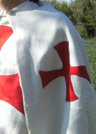 Detail of the Thibaud the Templar's costume