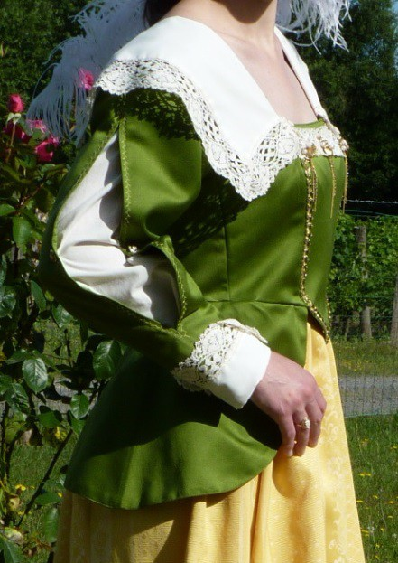 Detail of the Countess of Bois-Aubry's costume