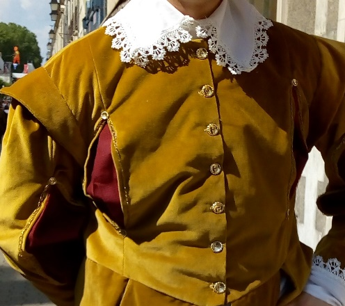 Detail of the Gaston of Orléans' costume