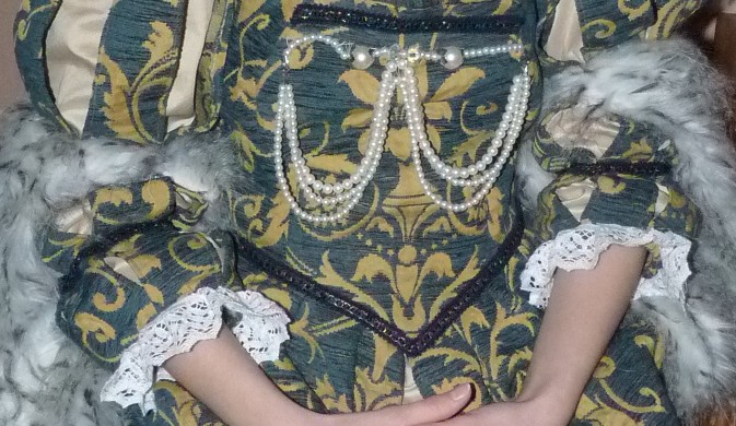 Detail of the Duchess of the Marche's costume