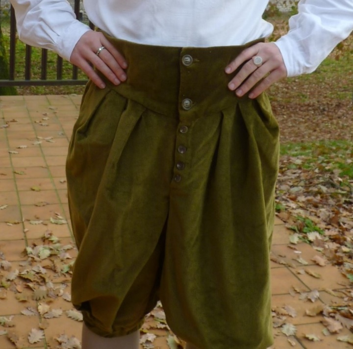 Short trousers from the beginning of 17th century